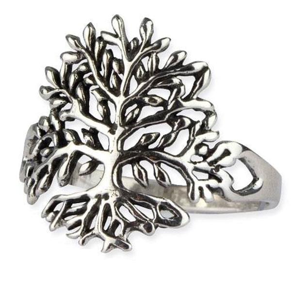 Silberring Lebensbaum 925er Sterling Silber