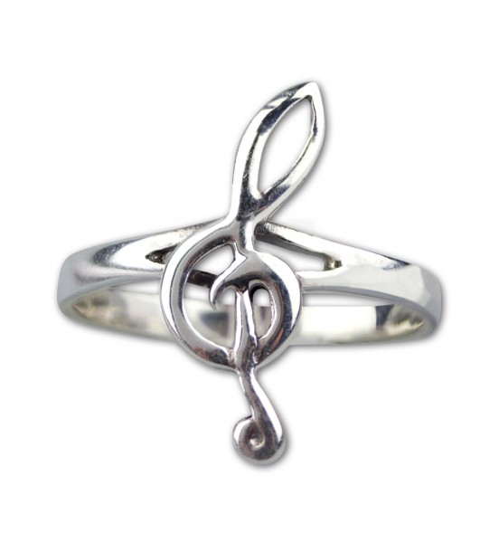 Ring Note aus Sterling Silber