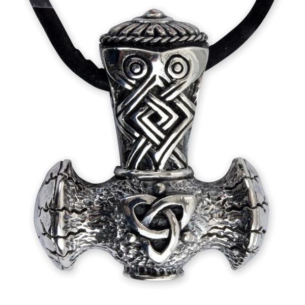 Thors Hammer mit keltischen Knoten 925 Silber