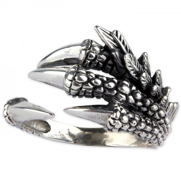 Silberring Dragon Claw 925er Sterling Silber