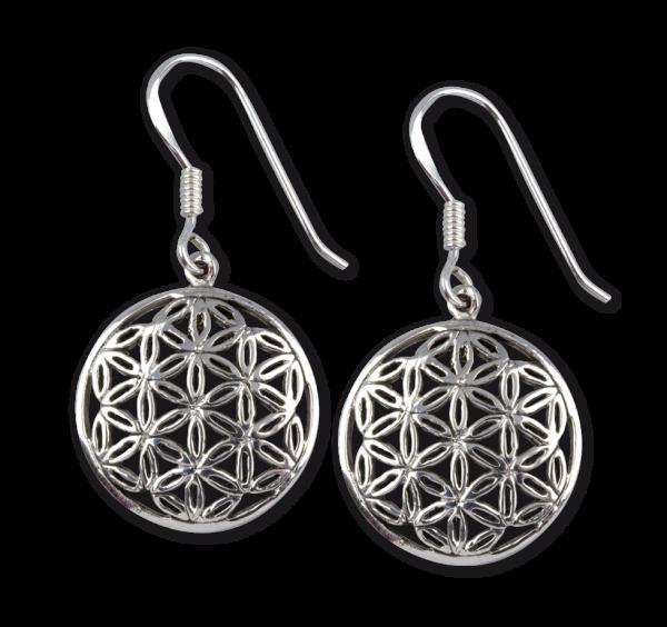 Ohrringe Blume des Lebens oder auch Lebensblume aus 925er Sterling Silber