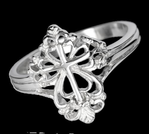 Ring mit verzierten Kreuz