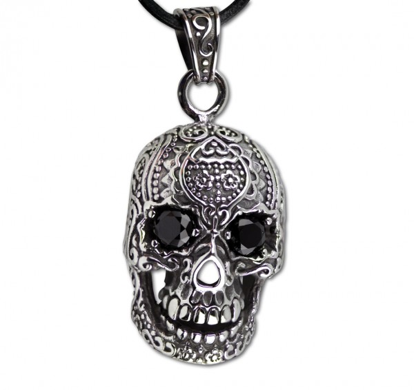 Anhänger Candy Skull 925er Sterling Silber