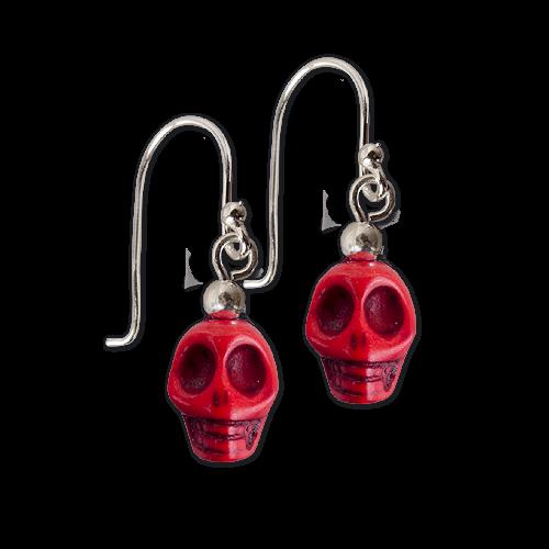 Ohrringe Totenkopf Skull rot Ohrh