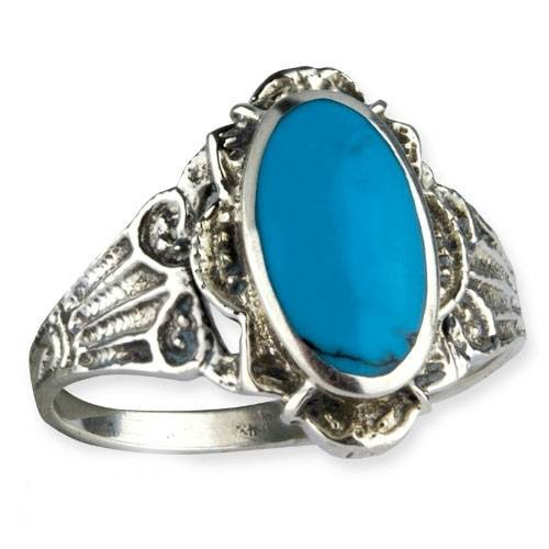 ring Gothic Ornament Türkis mit 925er Sterling Silber