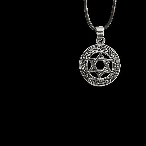 Anhänger Davidstern Hexagramm Bronze versilbert