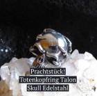 Totenkopfring Talon Skull Totenkopf mit Krallen Edelstahl