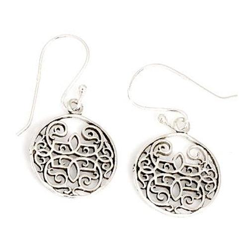 Ohrringe mit orientalischem Muster aus 925er Sterling Silber