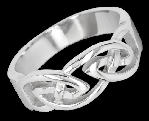 Ring keltischer Knoten aus Edelstahl