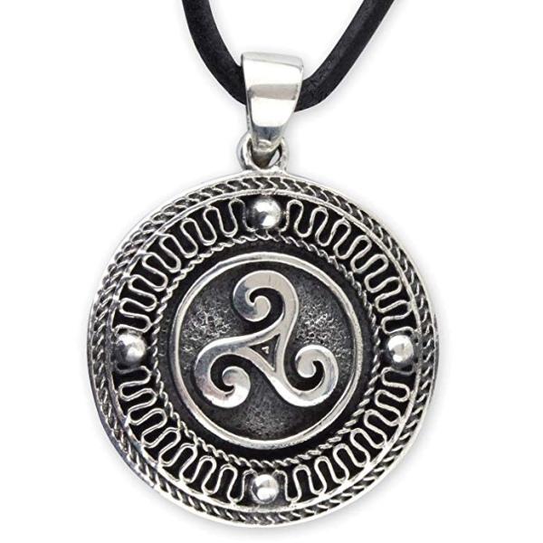Amulett Triskele Dreierwirbel 925 Sterling Silber
