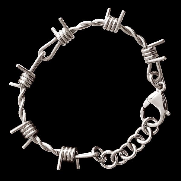 Armband Barb wire Stacheldraht 17x5 cm, Edelstahl Punk