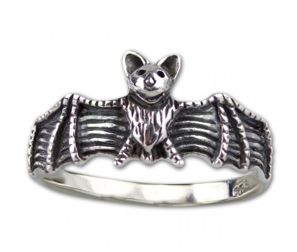 Ring Fledermaus Gothic Bat 925er Sterling Silber Fledermausring Fantasy