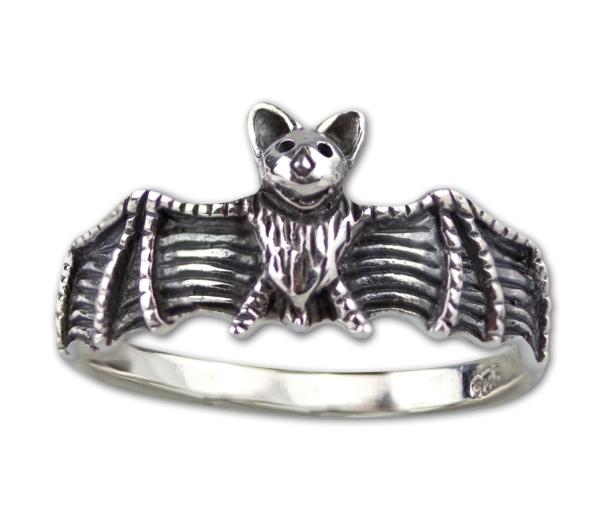 Ring Fledermaus Gothic Bat 925er Sterling Silber Fledermausring Fantasy