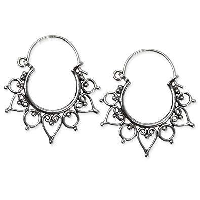 Ohrringe Indian Ornament 925er Sterling Silber Länge 3 cm