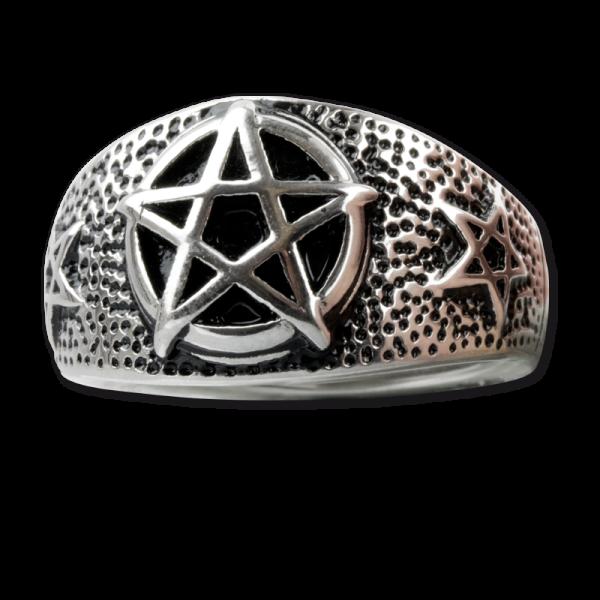 Ring Pentagramm aus Edelstahl