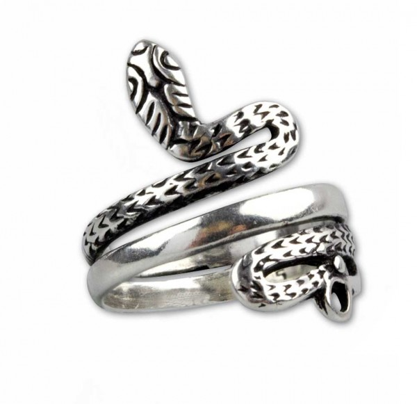 Schlangenring aus 925er Sterling Silber