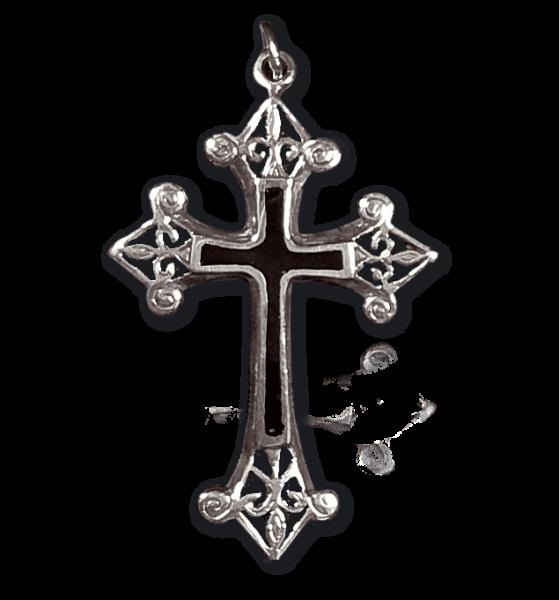Anhänger schwarzes Kreuz