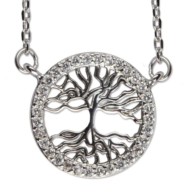 Silberkette Lebensbaum 92er Sterling Silber