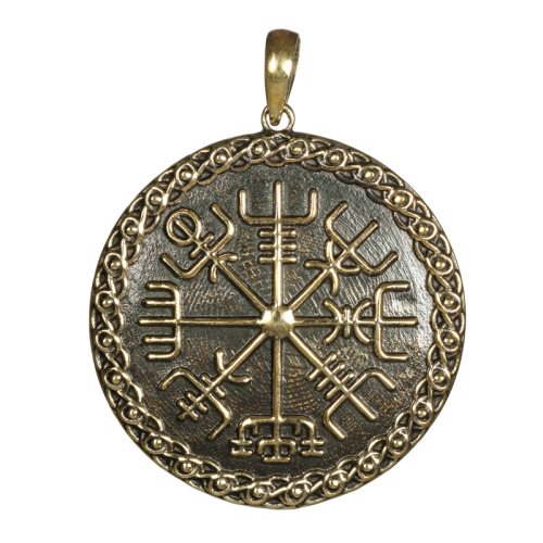 Amulett Wikingerkompaß Bronze