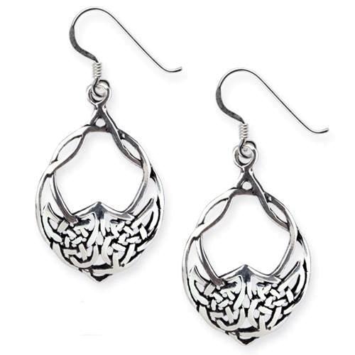 Ohrringe keltischer Knoten aus 925er Sterling Silber Länge 3cm