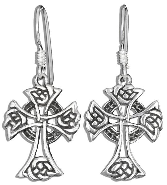 Silberohrringe Keltisches Kreuz