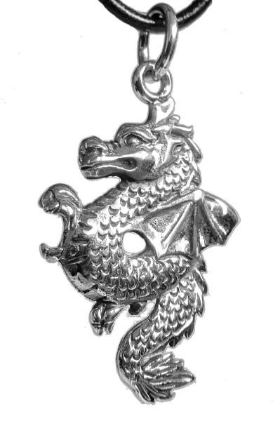 Drachenanhänger 925er Sterling Silber