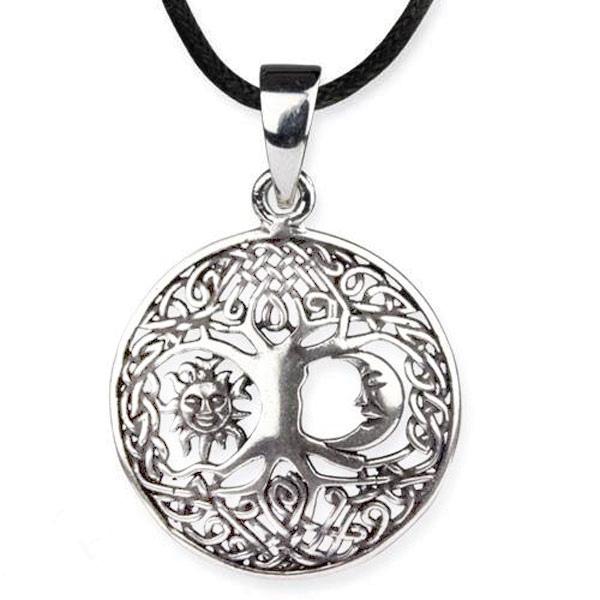 Amulett Lebensbaum Kosmos 925er Sterlingsilber