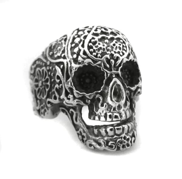 Toms-Silver Totenkopfring Ornament Skull Edelstahl