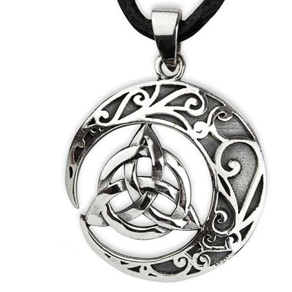 Amulett keltischer Knoten im Halbmond 925er Sterling Silber B 2,6cm