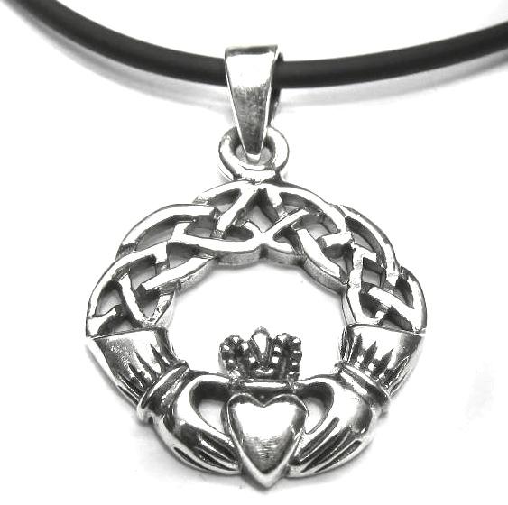 Anhänger Claddagh Symbol mit Herz