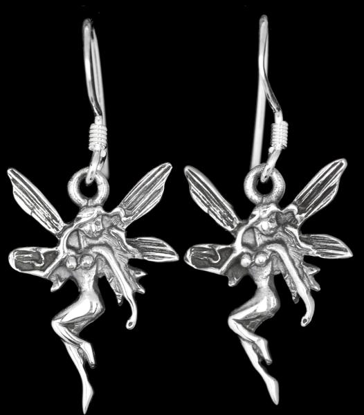 Ohrringe Elfe 925er Sterling Silber Länge 3cm