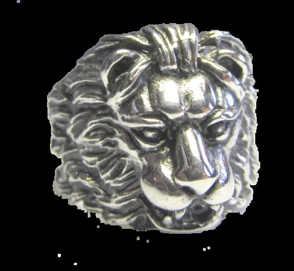 Löwe Ring aus Edelstahl