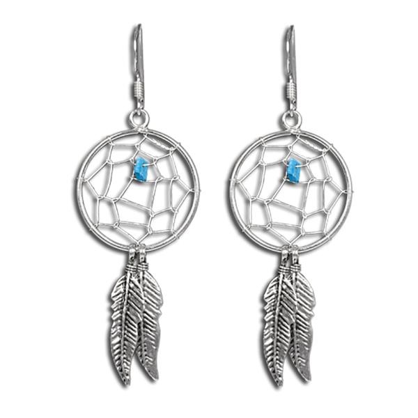 Traumfänger Ohrringe aus 925er Sterling Silber