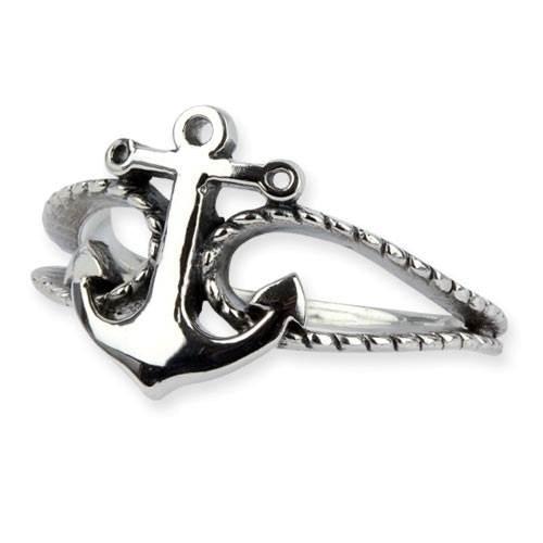 Ring Anker aus 925er Sterling Silber Maritimer Schmuck