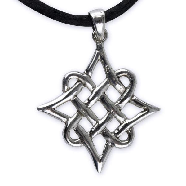 Anhänger Keltischer Knoten in Raute 925 Sterling Silber