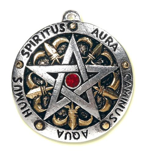Amulett Pentagramm Zinn