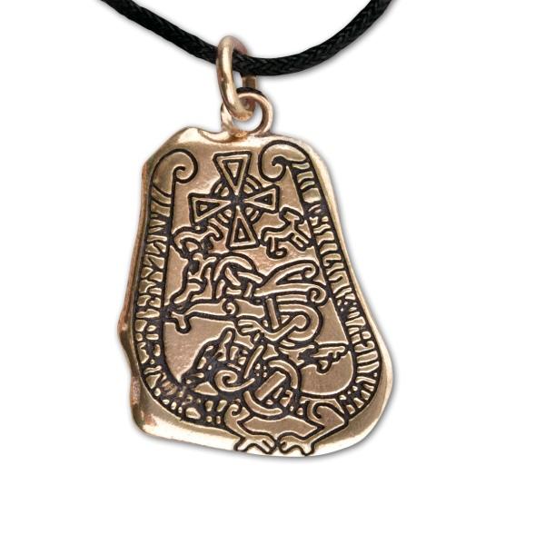 Amulett Runenstein aus Bronze