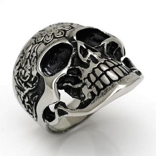 Ring Totenkopf Skull Totenkopfring aus Edelstahl