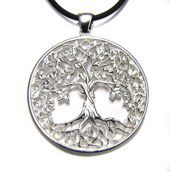 Amulett Lebensbaum 925er Sterling Silber