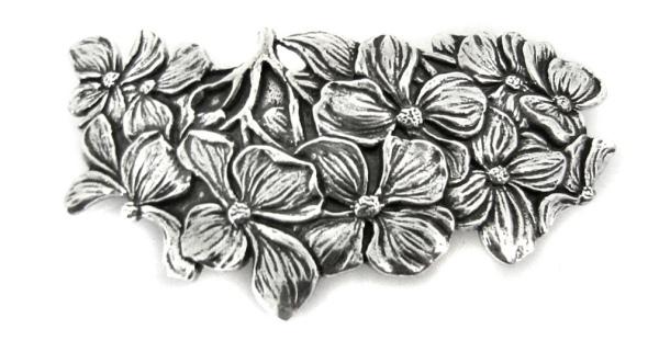 Haarspange Blüten Zinn