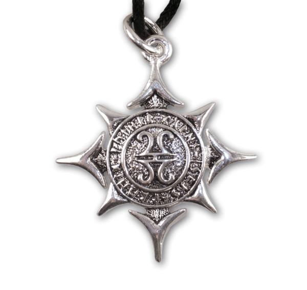 Amulett stern der Asen aus Bronze versilbert