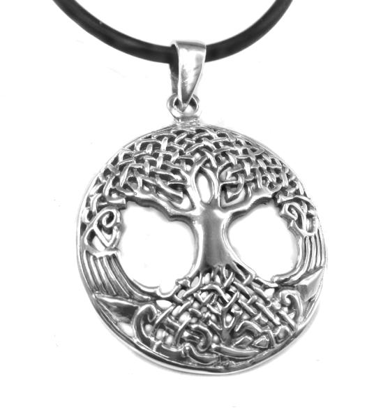 Lebensbaum Yggdrasil Silber keltischer Schmuck