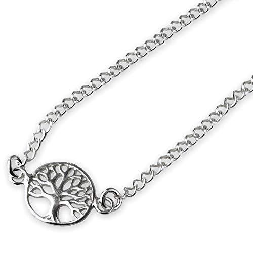Kette mit Lebensbaum 925 Silber Länge 40cm + 5cm
