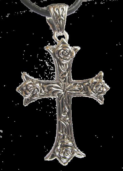 Rosenkreuz aus Messing,versilbert