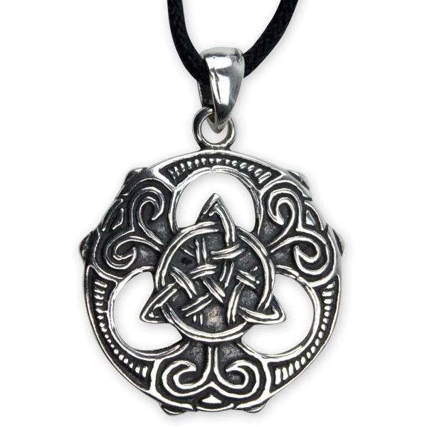 Amueltt Keltischer Knoten Triquetra 925 Sterling Silber 2,2cm
