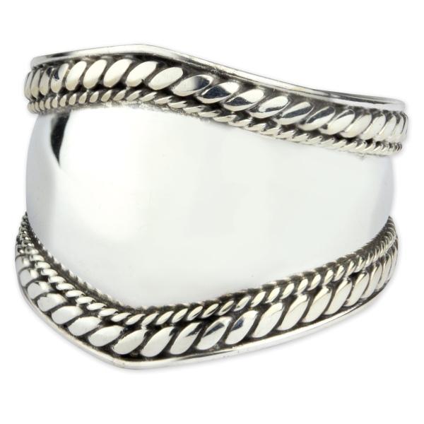 Breiter Silberring Plain 925er Sterlig Silber
