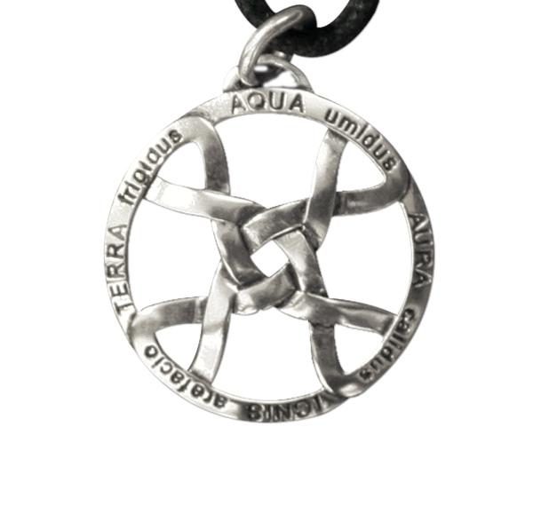 Amulett vier Elemente aus 925er Sterling Silber