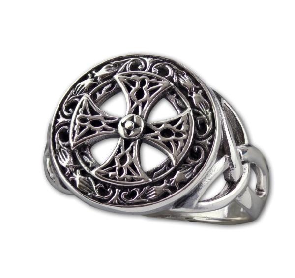 Keltisches Kreuz Ring aus 925er Sterling Silber