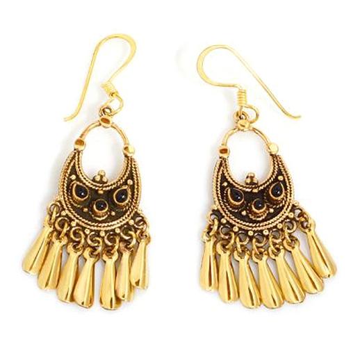 Ohrrringe Orient aus goldschimmernder Bronze