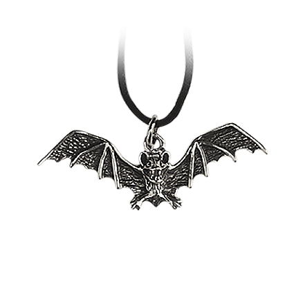 Fledermaus Bronze versilbert